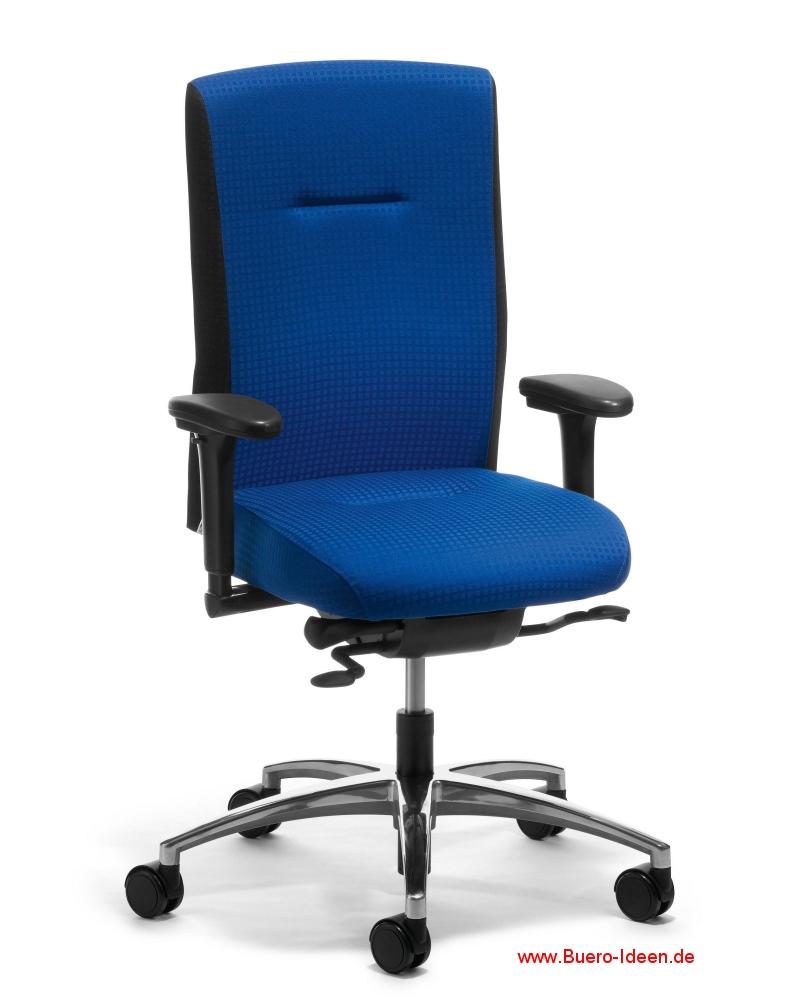 Anspruchsvoll Büro Ideen Beste Wahl Köhl Mireo Drehstuhl 6300 Vollpolster Vorderseite Blau